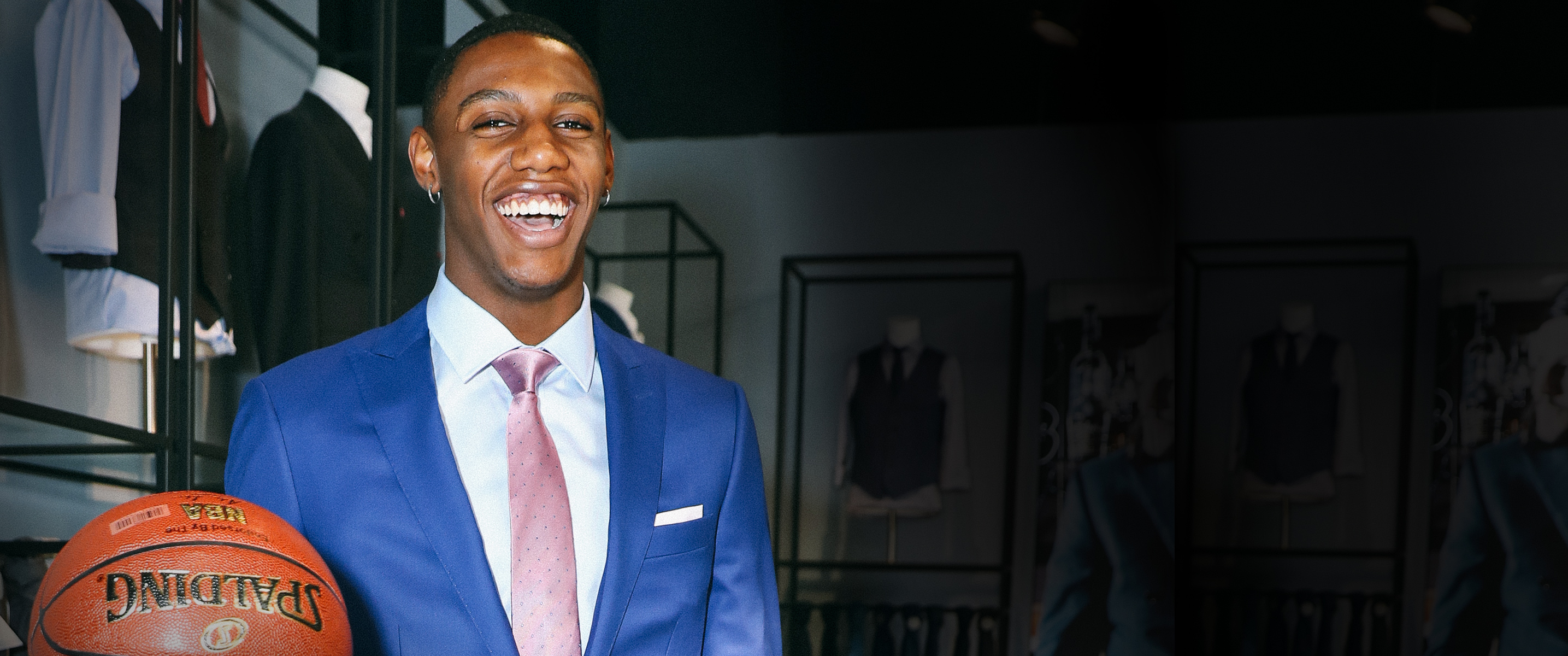 RJ Barrett is new Indochino Signature Athlete.